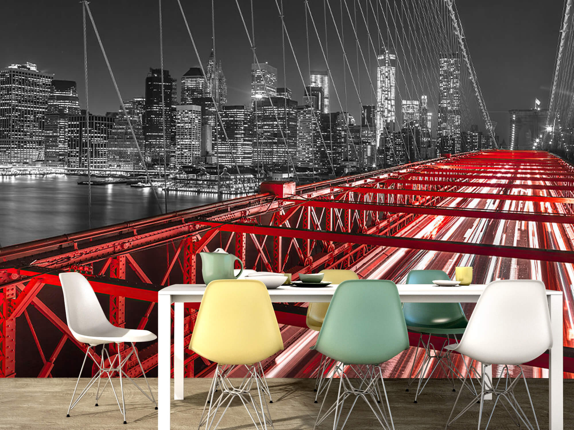 Röda Brooklyn Bridge 9