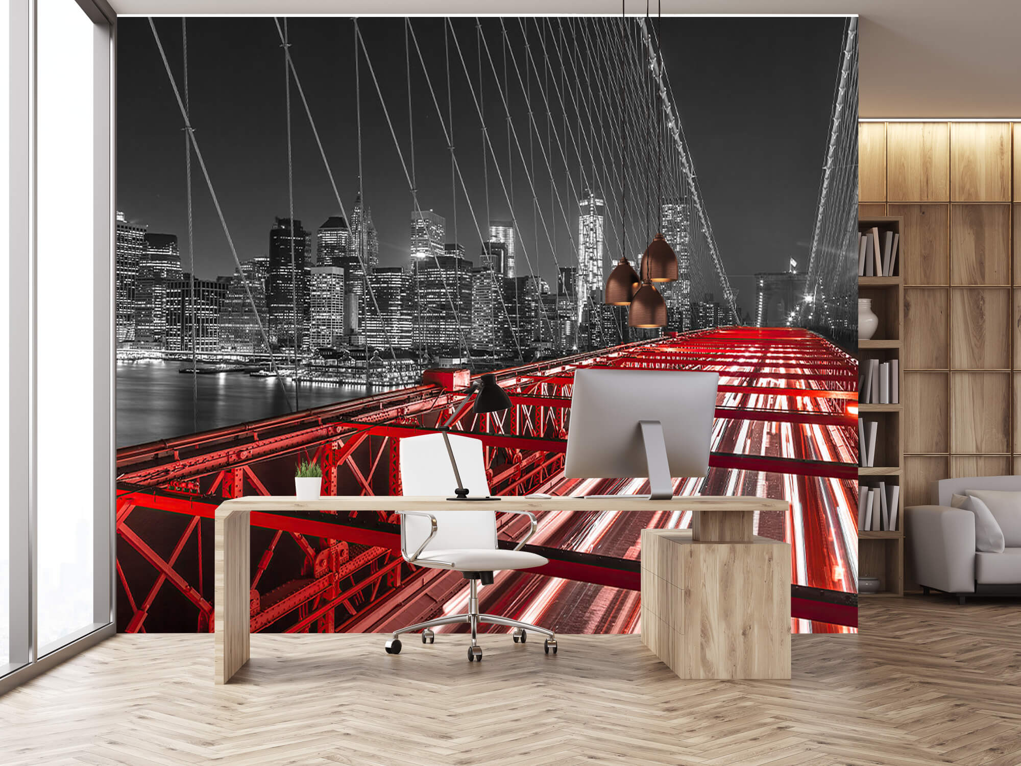 Röda Brooklyn Bridge 16