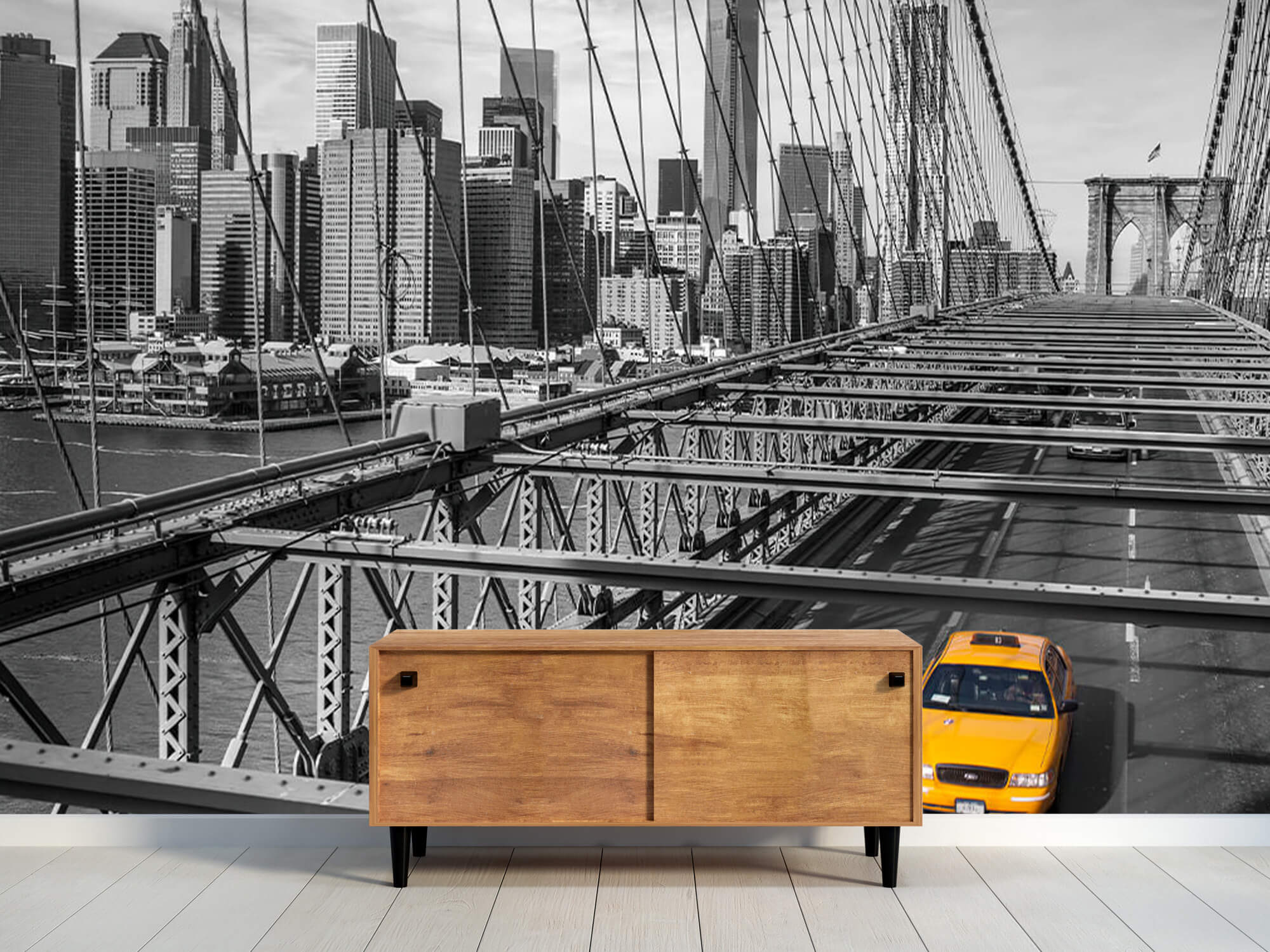 En taxi över Brooklyn Bridge 11