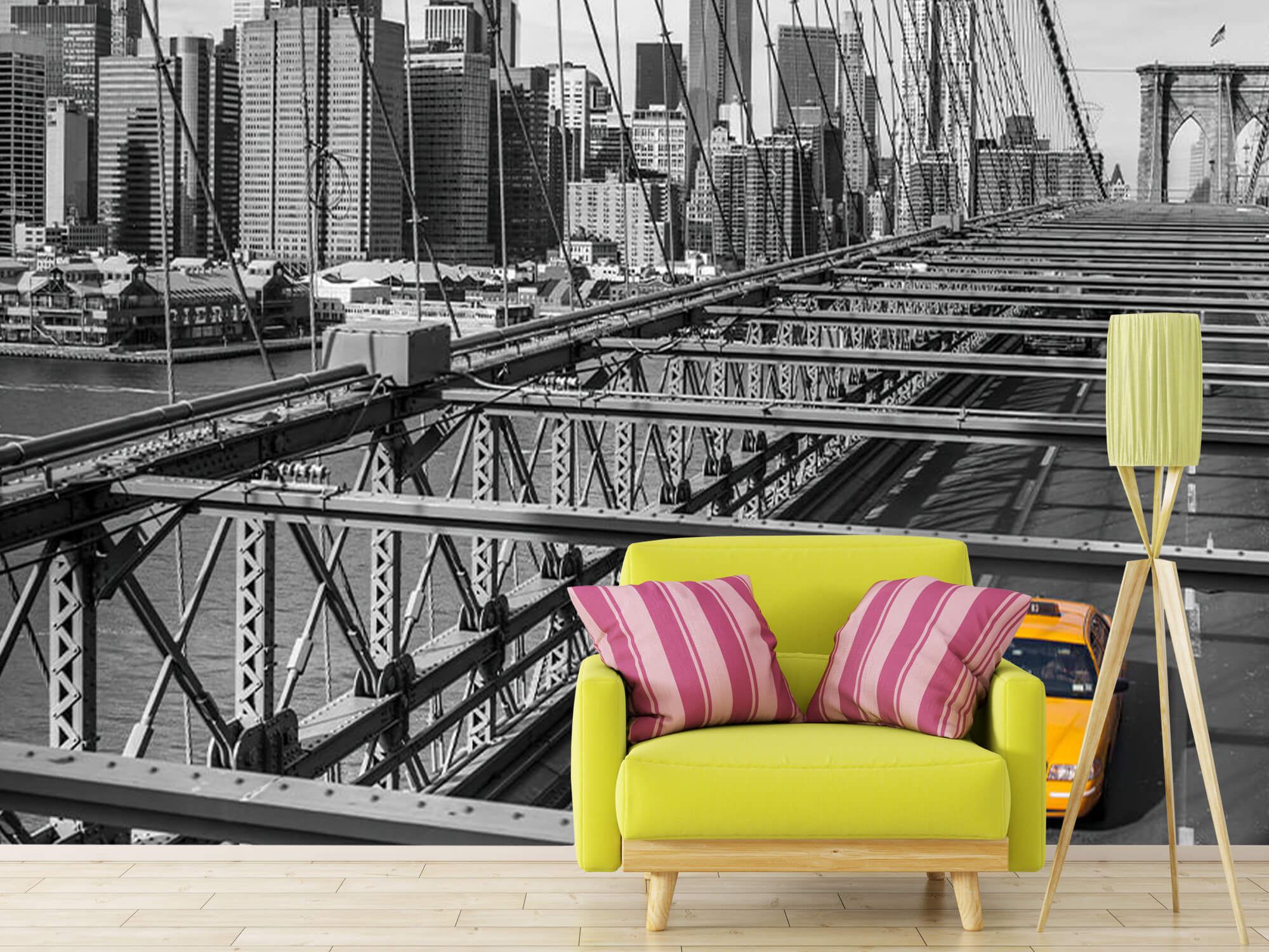 En taxi över Brooklyn Bridge 12