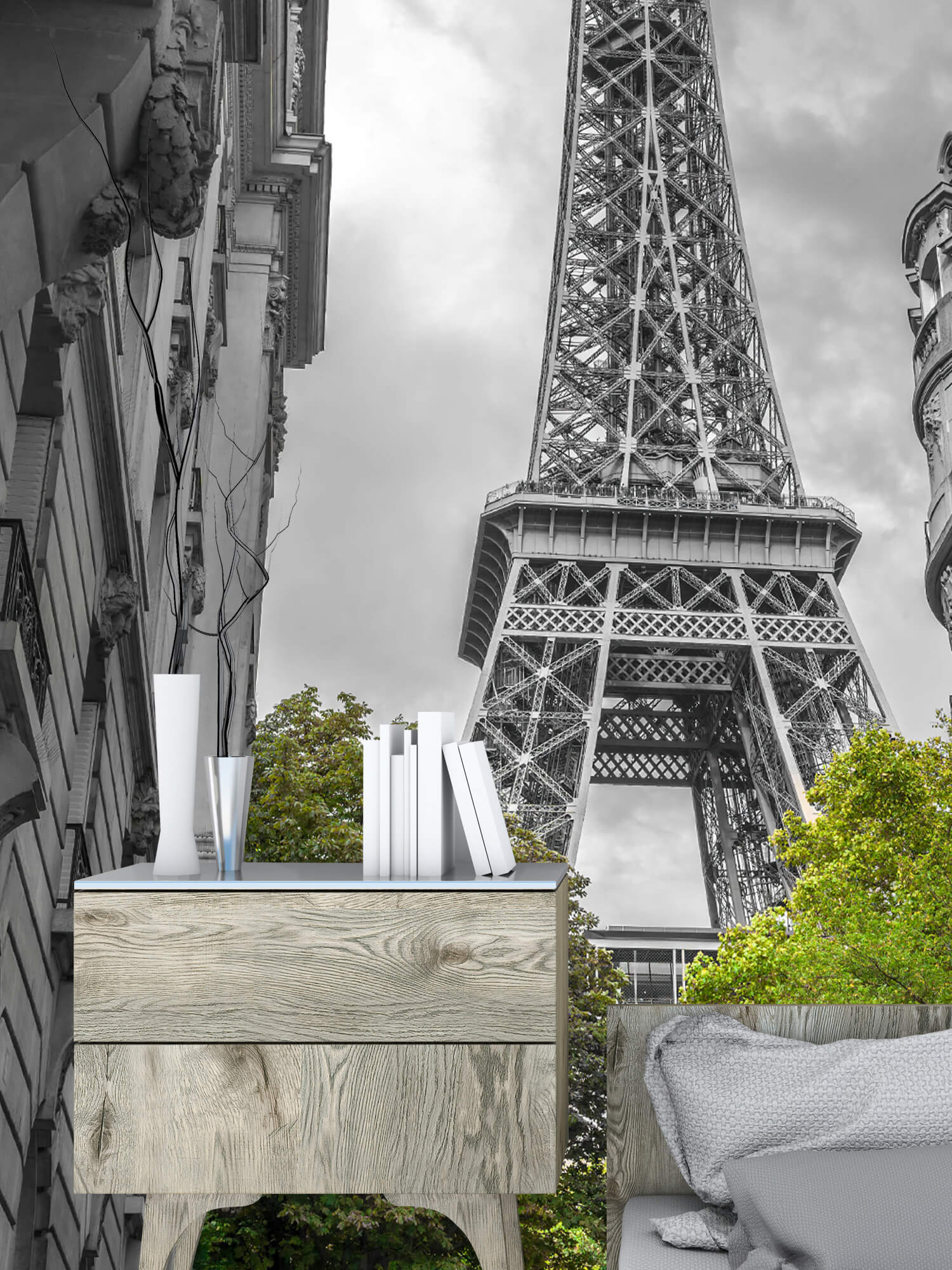 Eiffeltornet svart och vitt 10