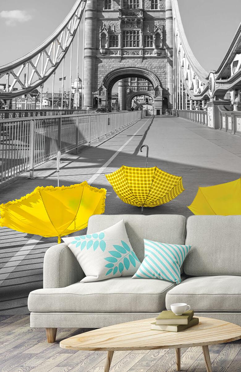 Gula paraplyer på Tower Bridge 7