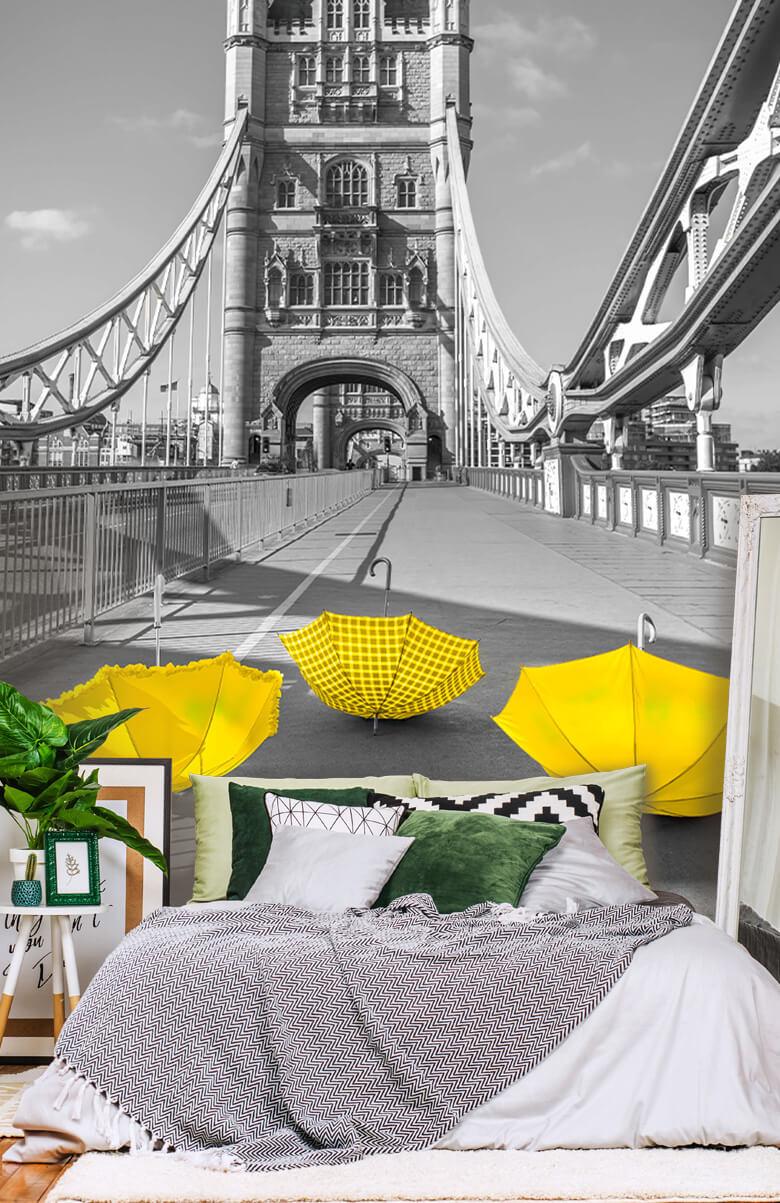 Gula paraplyer på Tower Bridge 14