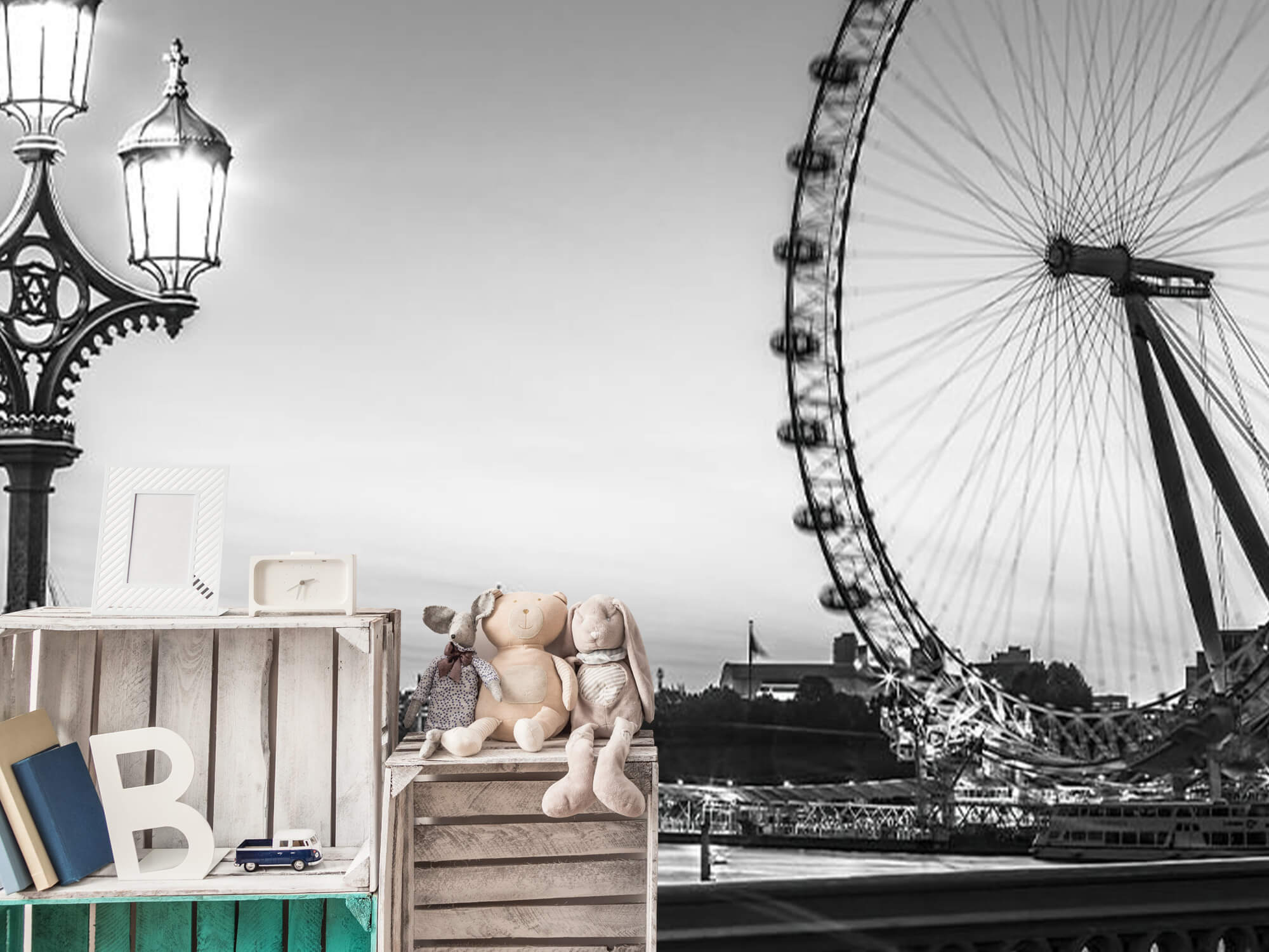 Pariserhjulet svart och vitt 15