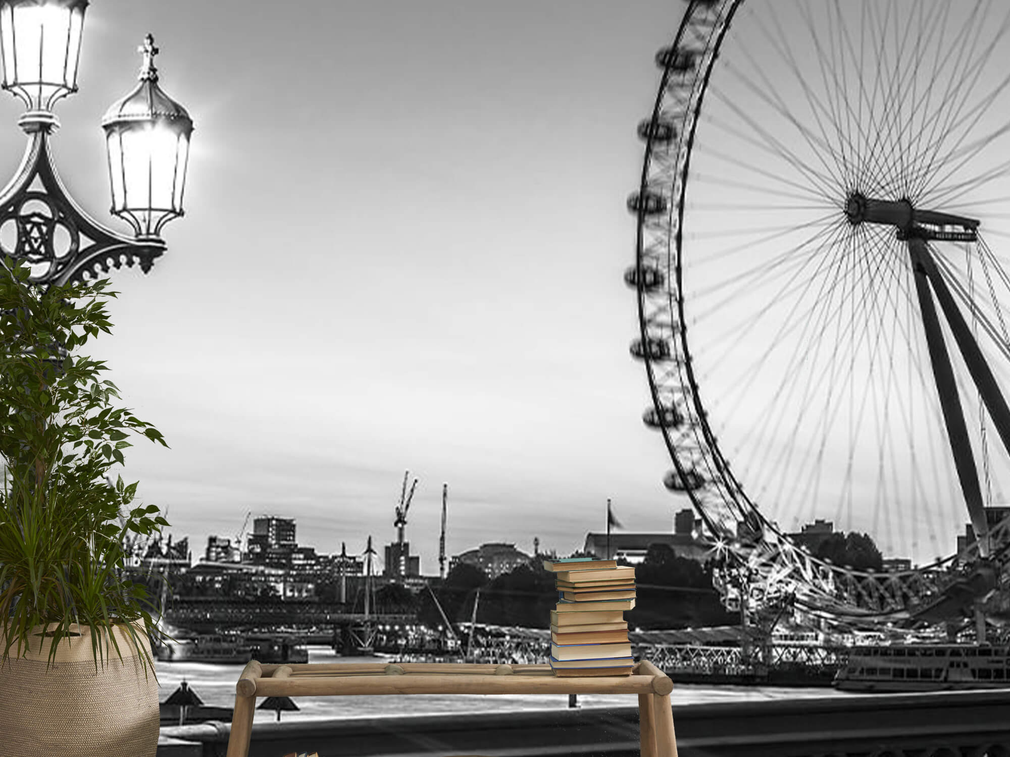 Pariserhjulet svart och vitt 16