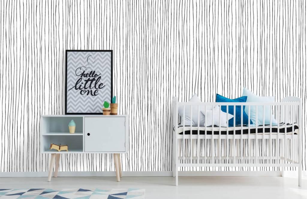 Abstrakt tapet Abstrakta linjer i svartvitt 6